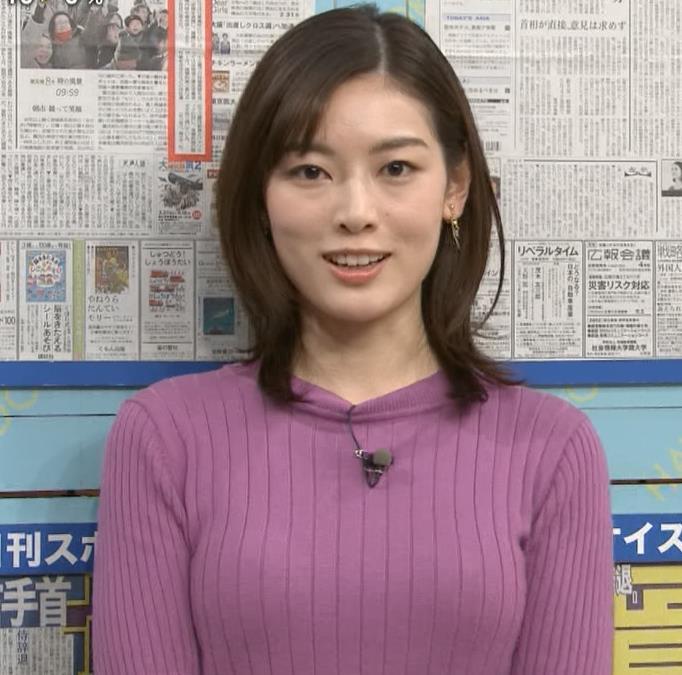 中西悠理アナ ニット横乳★キャプ・エロ画像2