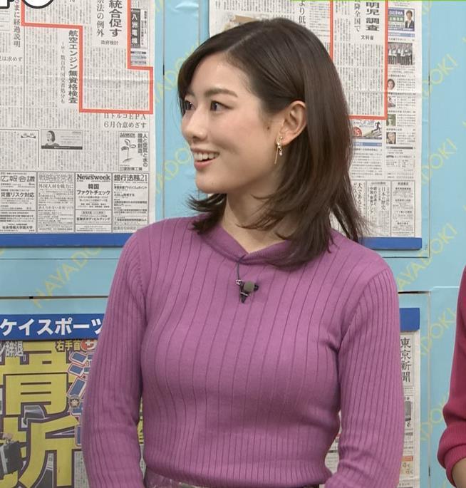 中西悠理アナ ニット横乳★キャプ・エロ画像3