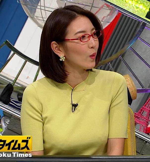 小澤陽子アナ 巨乳横乳キャプ・エロ画像5