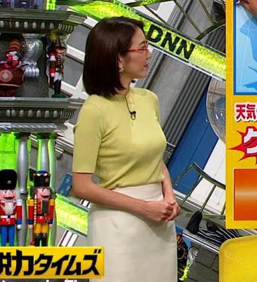 小澤陽子アナ 巨乳横乳キャプ画像(エロ・アイコラ画像)