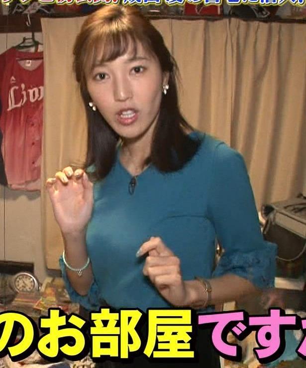 小澤陽子アナ 巨乳横乳キャプ・エロ画像3
