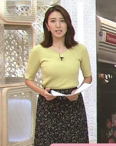 小澤陽子アナ 胸にしか目が行かないニュース番組キャプ・エロ画像3