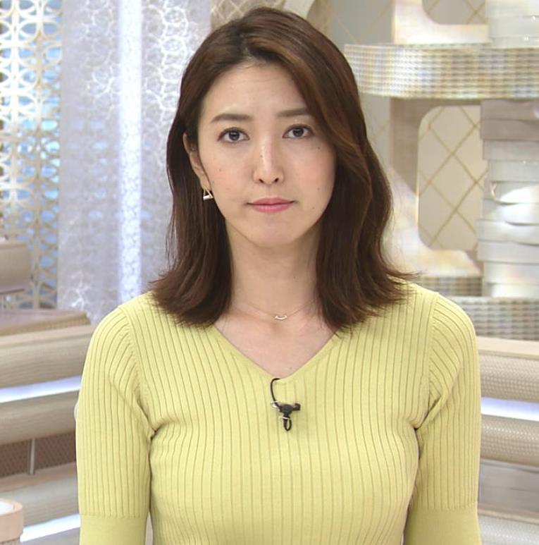 小澤陽子アナ 胸にしか目が行かないニュース番組キャプ・エロ画像4