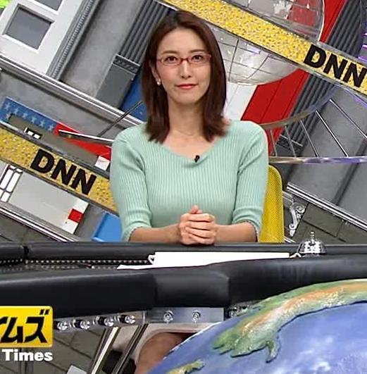 小澤陽子アナ 巨乳エロ・ニットキャプ・エロ画像