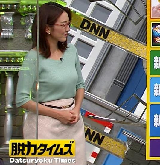 小澤陽子アナ 巨乳エロ・ニットキャプ・エロ画像12