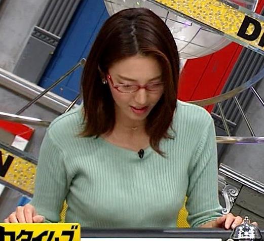小澤陽子アナ 巨乳エロ・ニットキャプ・エロ画像4