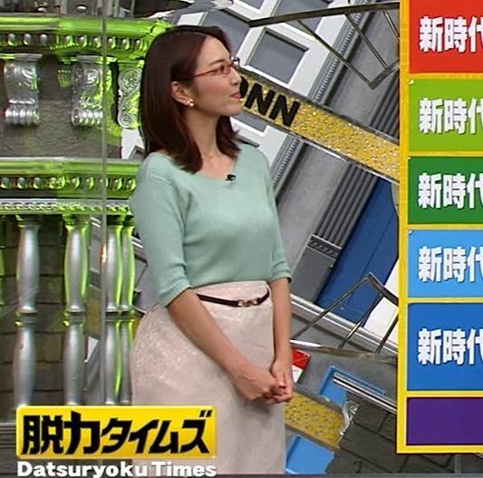 小澤陽子アナ 巨乳エロ・ニットキャプ・エロ画像9