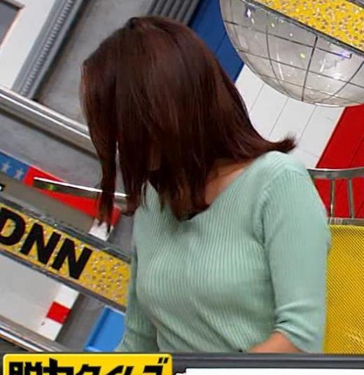 小澤陽子アナ 巨乳エロ・ニットキャプ画像(エロ・アイコラ画像)