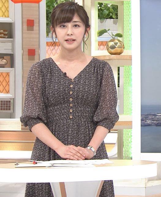 斎藤ちはるアナ Vネック、お辞儀で胸元チラキャプ・エロ画像7
