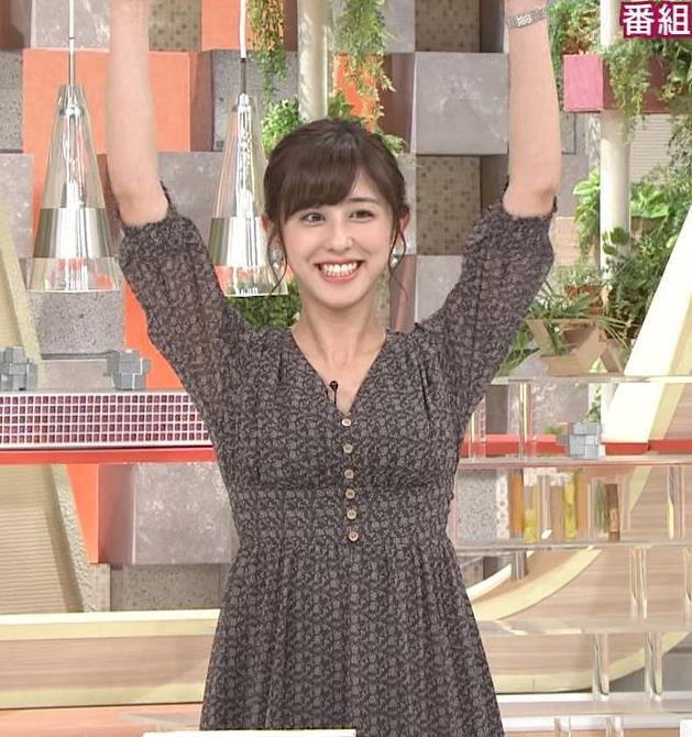 斎藤ちはるアナ Vネック、お辞儀で胸元チラキャプ・エロ画像8