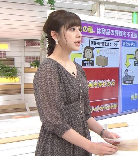 斎藤ちはるアナ Vネック、お辞儀で胸元チラキャプ・エロ画像9