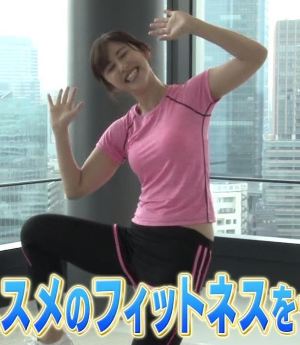 斎藤ちはるアナ ピチピチなTシャツエロキャプ・エロ画像