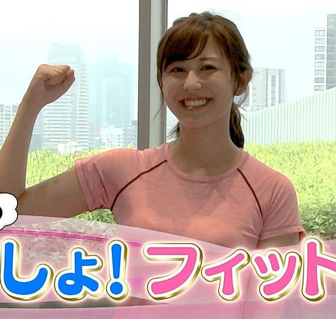 斎藤ちはるアナ ピチピチなTシャツエロキャプ・エロ画像4