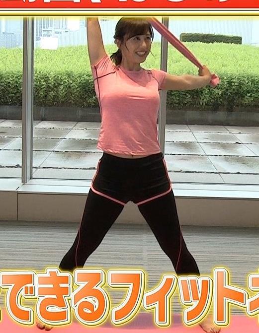 斎藤ちはるアナ ピチピチなTシャツエロキャプ・エロ画像7