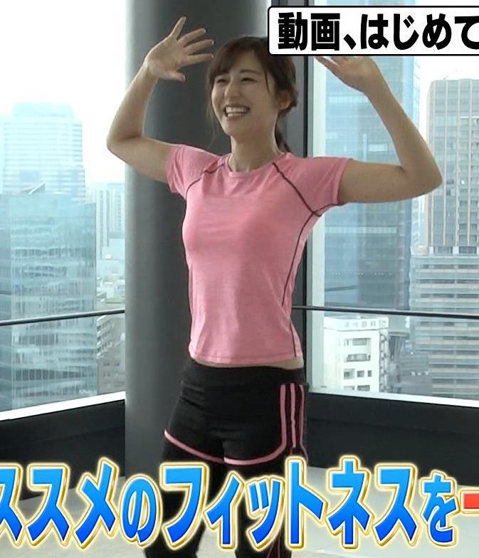 斎藤ちはるアナ ピチピチなTシャツエロキャプ・エロ画像10