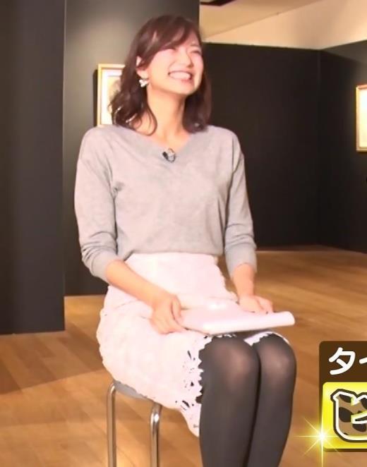 斎藤真美アナ 黒ストッキングキャプ画像(エロ・アイコラ画像)