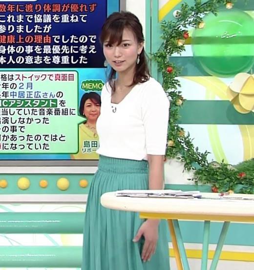 斎藤真美アナ ちょっと横乳キャプ画像(エロ・アイコラ画像)