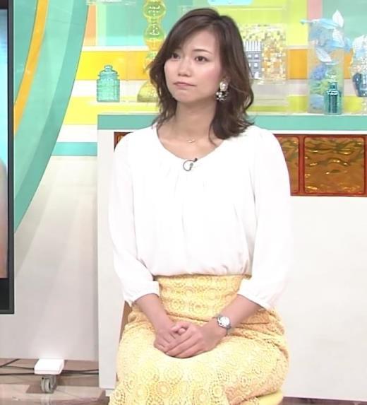 斎藤真美アナ スカートから脚のラインが浮き出るキャプ画像(エロ・アイコラ画像)