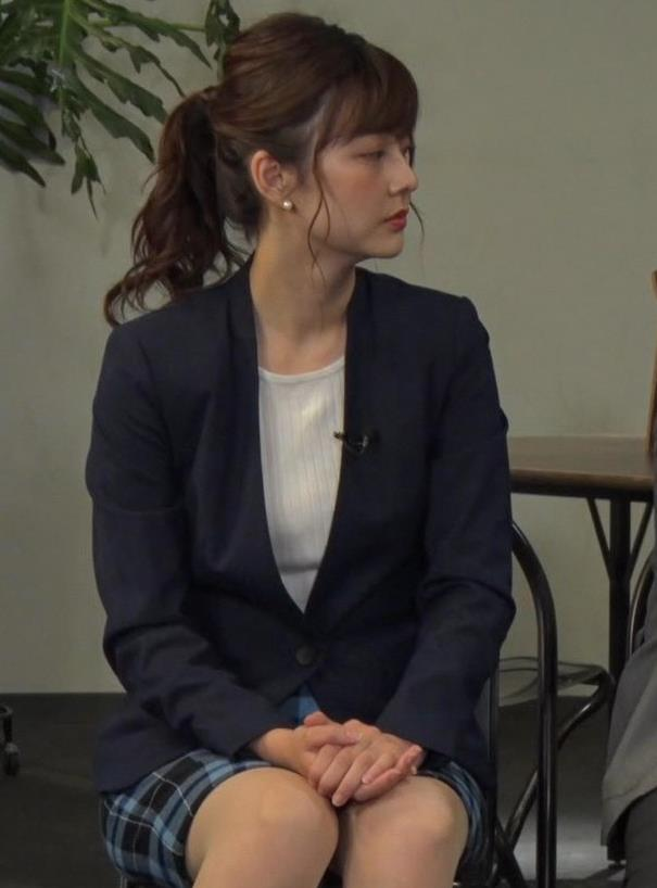 佐藤梨那アナ パンチラ?▼ゾーン&エロいノースリーブキャプ・エロ画像3