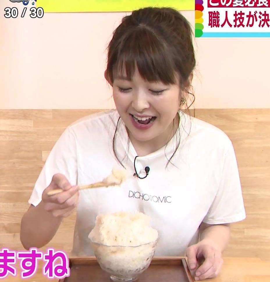 諸國沙代子アナ Tシャツ巨乳を押しつぶすエロキャプ・エロ画像6