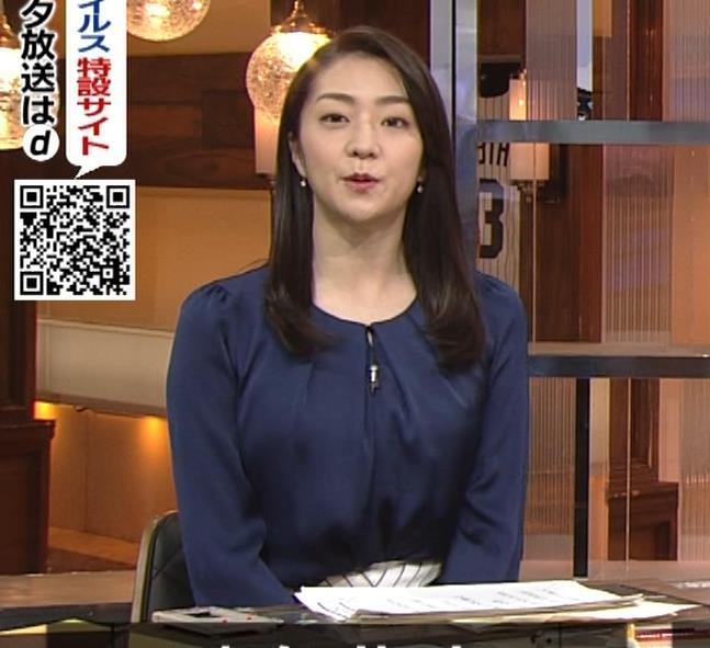 副島萌生アナ 横乳キャプ・エロ画像2