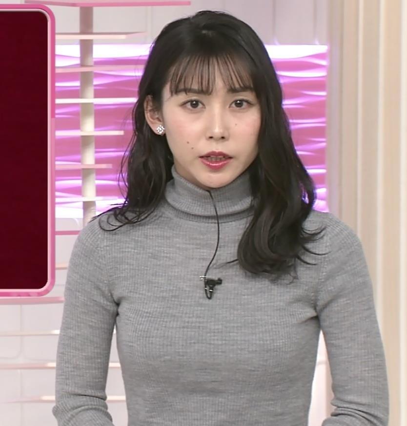 杉野真美アナ ピチピチなニットキャプ・エロ画像5