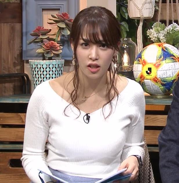 鷲見玲奈アナ 大胆胸チラキャプ・エロ画像