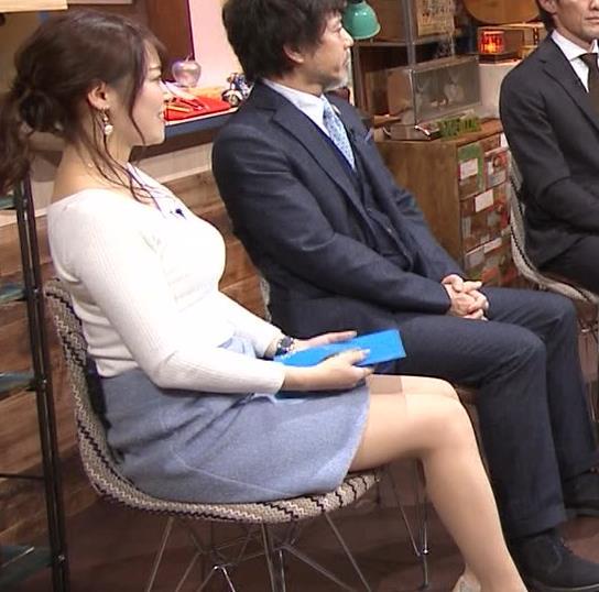 鷲見玲奈アナ 大胆胸チラキャプ・エロ画像6