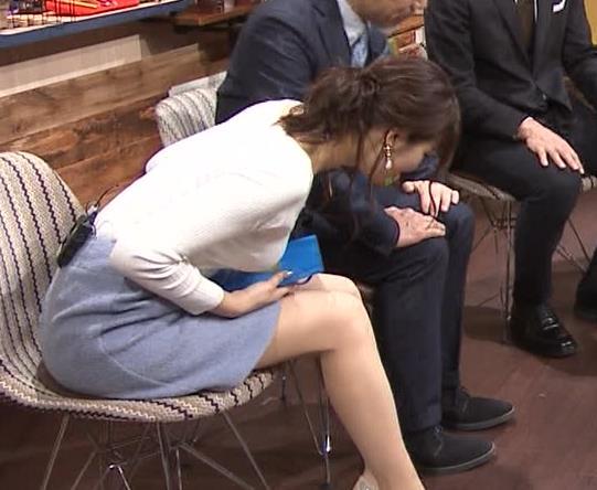 鷲見玲奈アナ 大胆胸チラキャプ・エロ画像7