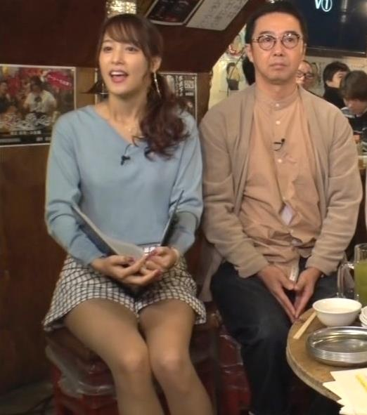 鷲見玲奈アナ 脚が細くてきれいキャプ・エロ画像