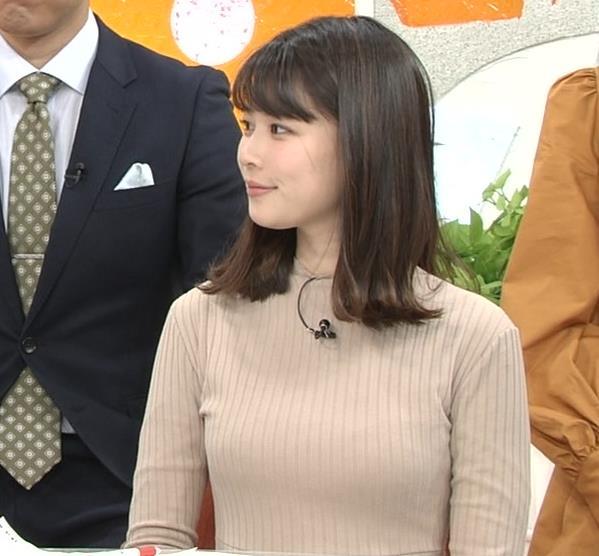 鈴木唯アナ 肌色でエロいニットキャプ・エロ画像2