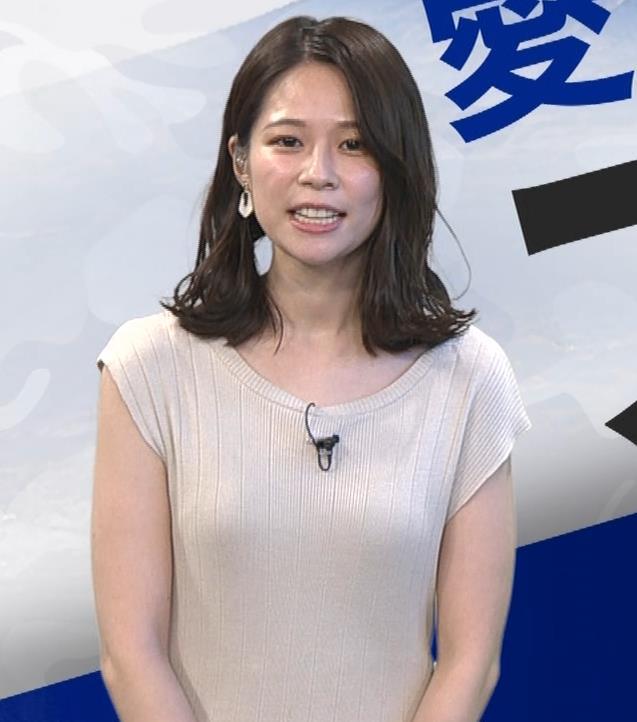 鈴木唯アナ 巨乳でエッチなノースリーブキャプ・エロ画像7