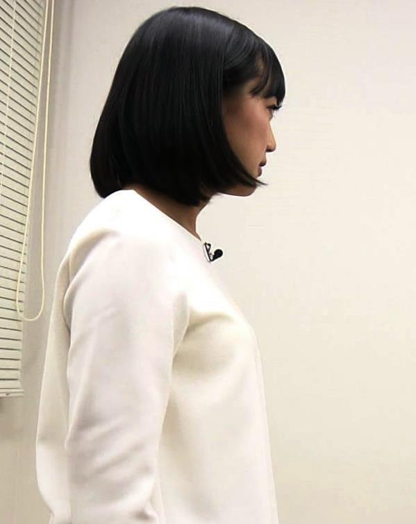 竹内由恵アナ 胸がエロいシャツキャプ・エロ画像2