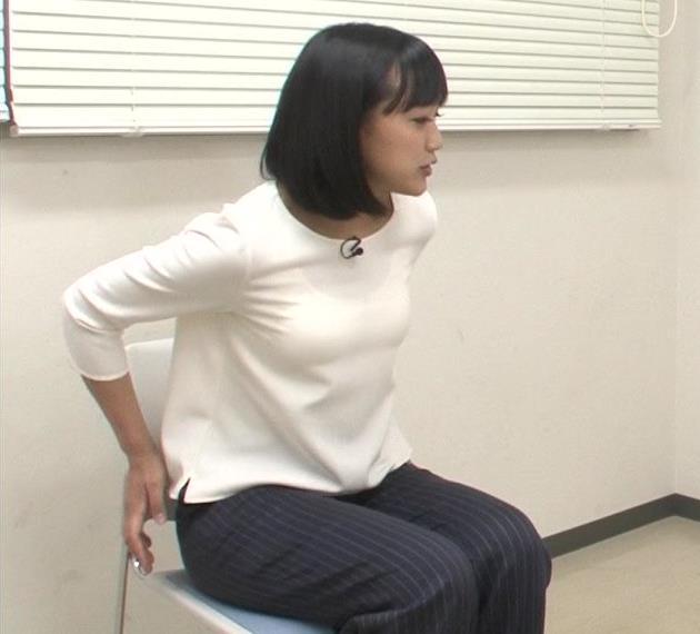 竹内由恵アナ 胸がエロいシャツキャプ・エロ画像3