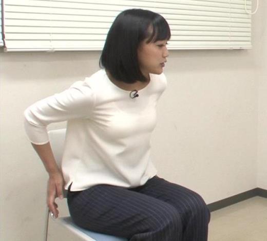 竹内由恵アナ 胸がエロいシャツキャプ画像(エロ・アイコラ画像)