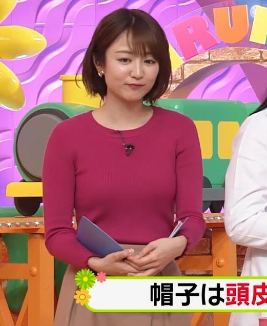 滝菜月アナ ニットおっぱいキャプ・エロ画像3