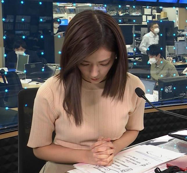 田村真子アナ ニットおっぱいキャプ・エロ画像