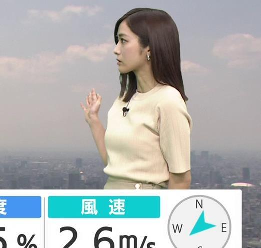 田村真子アナ ニットおっぱいキャプ・エロ画像3