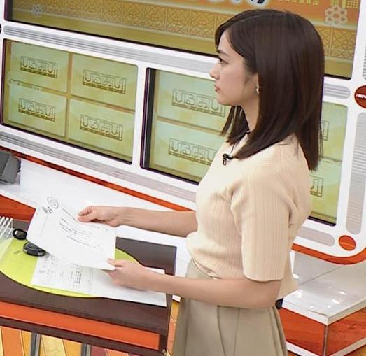 田村真子アナ ニットおっぱいキャプ・エロ画像5