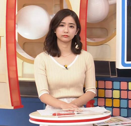 田村真子アナ エロいニット横乳キャプ・エロ画像