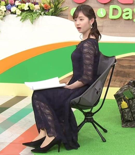 田中瞳アナ かわいい横乳キャプ画像(エロ・アイコラ画像)