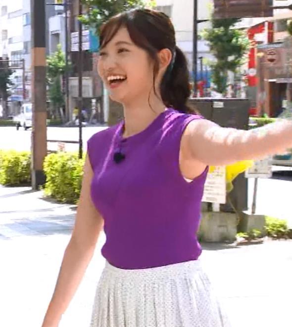 田中瞳アナ エロいノースリーブキャプ・エロ画像