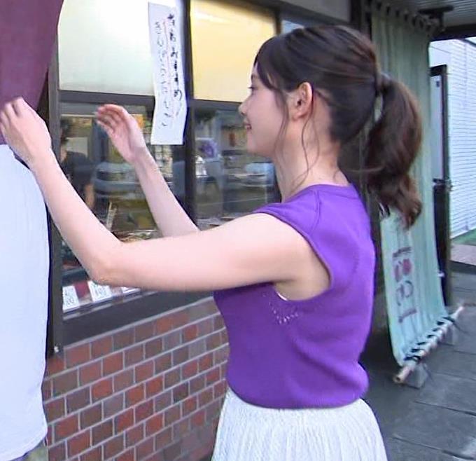 田中瞳アナ エロいノースリーブキャプ・エロ画像6
