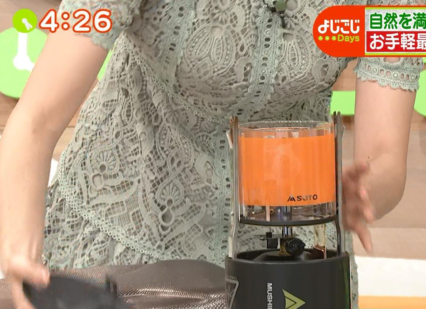 田中瞳アナ 太ももチラリキャプ・エロ画像4