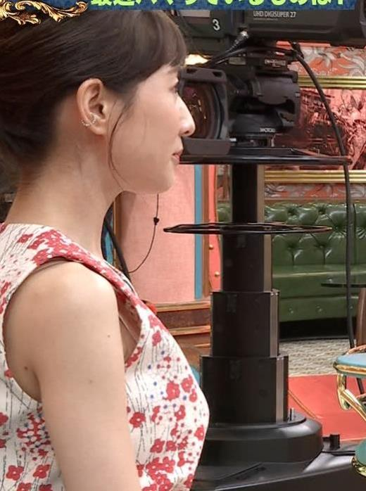 田中みな実 ノースリーブの横から中が見えるキャプ画像(エロ・アイコラ画像)