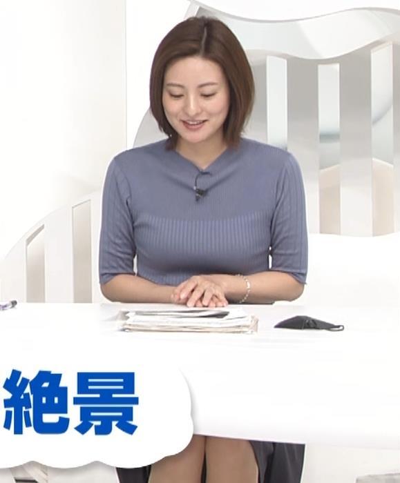 徳島えりかアナ 朝からエロいニットおっぱいキャプ・エロ画像