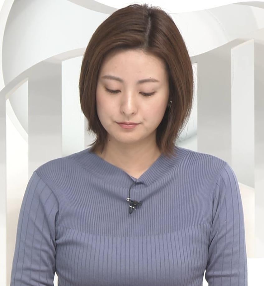 徳島えりかアナ 朝からエロいニットおっぱいキャプ・エロ画像4