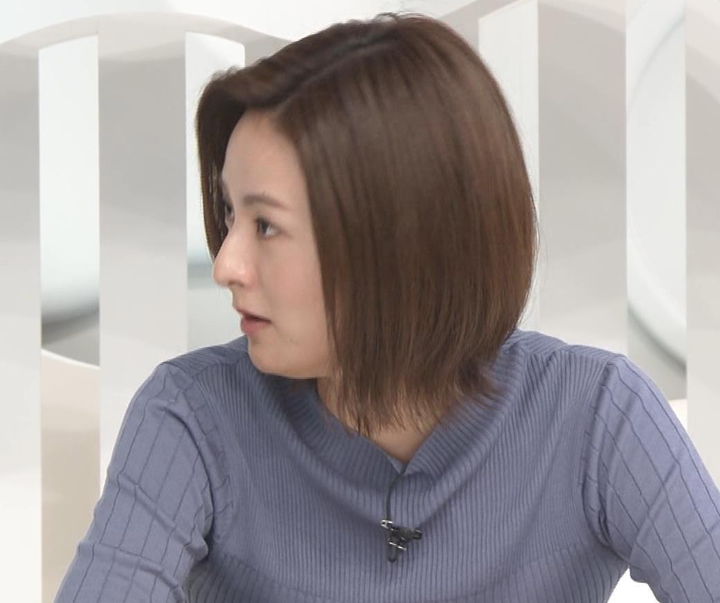 徳島えりかアナ 朝からエロいニットおっぱいキャプ・エロ画像6