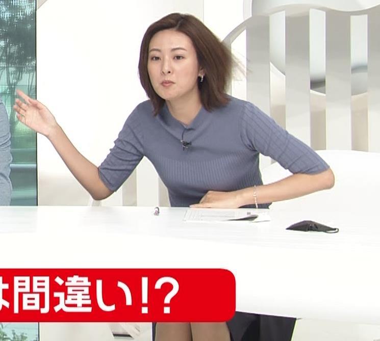 徳島えりかアナ 朝からエロいニットおっぱいキャプ・エロ画像7