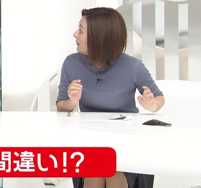 徳島えりかアナ 朝からエロいニットおっぱいキャプ・エロ画像8